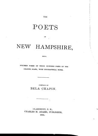The Poets of New Hampshire PDF