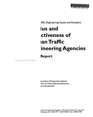 Urban Traffic Engineering Issues and Answers PDF