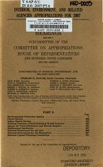 Interior, Environment, and Related Agencies Appropriations for 2007