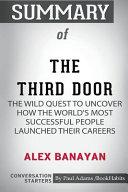 Summary of The Third Door by Alex Banayan  Conversation Starters PDF