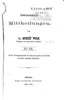 Astronomische Mitteilungen der Eidgen  ssischen Sternwarte Z  rich PDF