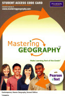 Masteringgeography With Pearson Etext Standalone Access Card For Contemporary Human Geography Book PDF