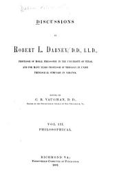 Discussions: Philosophical