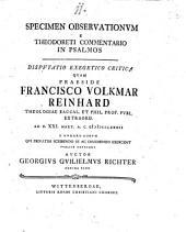 Specimen observationum e Theodoreti commentario in psalmos