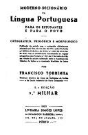 Moderno dicion  rio da l  ngua portuguesa  para os estudantes e para o povo PDF