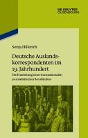 Deutsche Auslandskorrespondenten im 19  Jahrhundert PDF