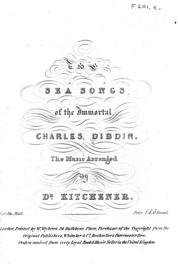 The Sea Songs of the Immortal Charles Dibdin PDF
