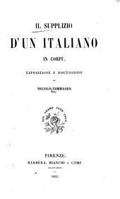 Il supplizio d'un italiano in Corfù: esposizione e discussione