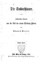 Die Sabbathianer historischer Roman aus der Zeit der ersten Theilung Polens PDF