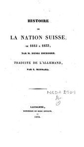 Histoire de la nation suisse de 1815 à 1833
