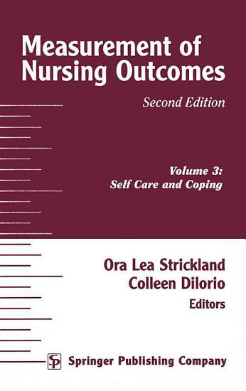 Measurement of Nursing Outcomes  2nd Edition  Volume 3 PDF