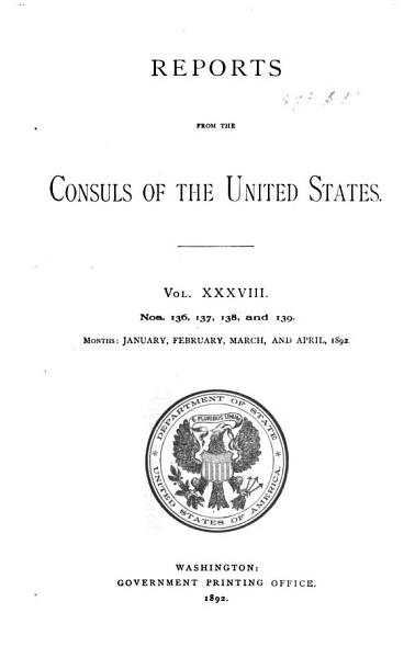 Download Reports from the Consuls of the United States Book