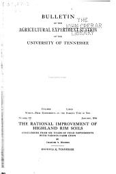 Bulletin of the Agricultural Experiment Station of the University of Tennessee: Issues 102-114