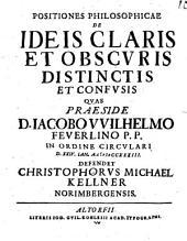 Positiones philos. de ideis claris et obscuris, distinctis et confusis