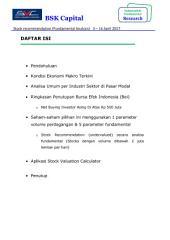 BULETIN (laporan keuangan akhir tahun Q3 & Q4 2016) SAHAM-SAHAM 2ND LINE UNDERVALUE 3 – 14 April 2017: KOMBINASI FUNDAMENTAL & TECHNICAL ANALYSIS