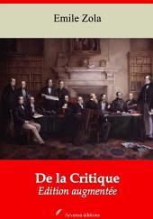 De la Critique: Nouvelle édition augmentée