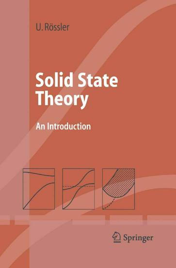 Solid State Theory PDF