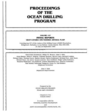 Proceedings of the Ocean Drilling Program