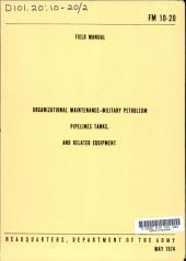 Organizational Maintenance: Military Petroleum Pipelines, Tanks, and Related Equipment