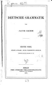 Deutsche Grammatik: Band 1