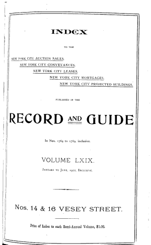 Real Estate Record and Builders  Guide PDF