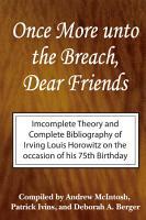 Once More Unto the Breach  Dear Friends PDF