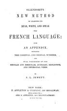Ollendorff s New Method of Learning to Read  Write  and Speak the French Language PDF