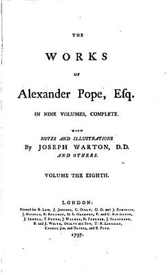 The Works of Alexander Pope  Esq  Letters PDF