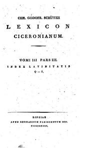 Lexicon ciceronianum: Volume 2, Part 1