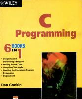C PROGRAMMING 6 BOOKS IN 1 PDF
