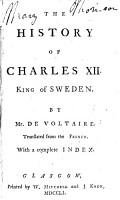 The History of Charles XII  King of Sweden PDF