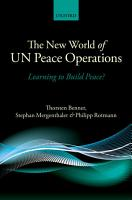 The New World of UN Peace Operations PDF