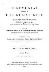Ceremonial According to the Roman Rite PDF