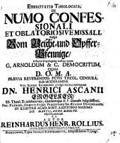 De numo confessionali et oblatorio sive missali