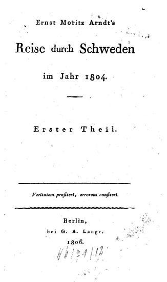 Reise durch Schweden im Jahr 1804 PDF