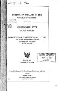 Control of the Arts in the Communist Empire PDF