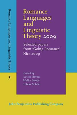 Romance Languages and Linguistic Theory 2009 PDF