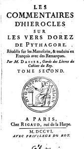Les Commentaires D'Hierocles Sur Les Vers Dorez De Pythagore