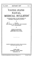 United States Naval Medical Bulletin for the Information of the Medical Department of the Navy     PDF
