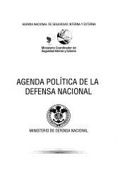 Agenda pol  tica de la defensa nacional PDF
