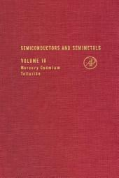 Semiconductors and Semimetals: Volume 18