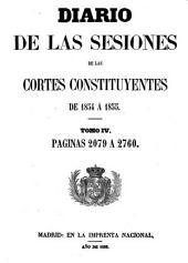 Diario de las sesiones de Cortes: Volumen 4