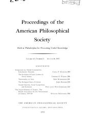 Proceedings, American Philosophical Society (vol. 123, No. 4, 1979)