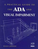 A Practical Guide to the ADA and Visual Impairment PDF