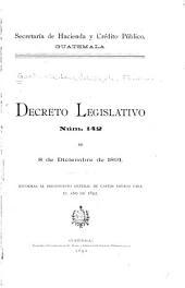Decreto legislativo núm. 142 de 8 de diciembre de 1891: reformas al presupuesto general de gastos votado para el año de 1892