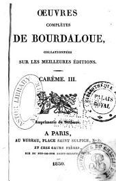 Oeuvres complètes de Bourdaloue: Volumes5à6