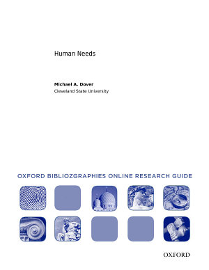 Human Needs  Oxford Bibliographies Online Research Guide PDF