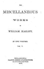 The Miscellaneous Works of William Hazlitt