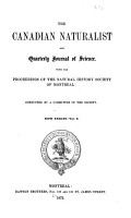 The Canadian Naturalist and Quarterly Journal of Science PDF