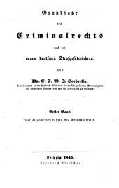 Grundsätze des Criminalrechts nach den neuen deutschen Strafgesetzbüchern